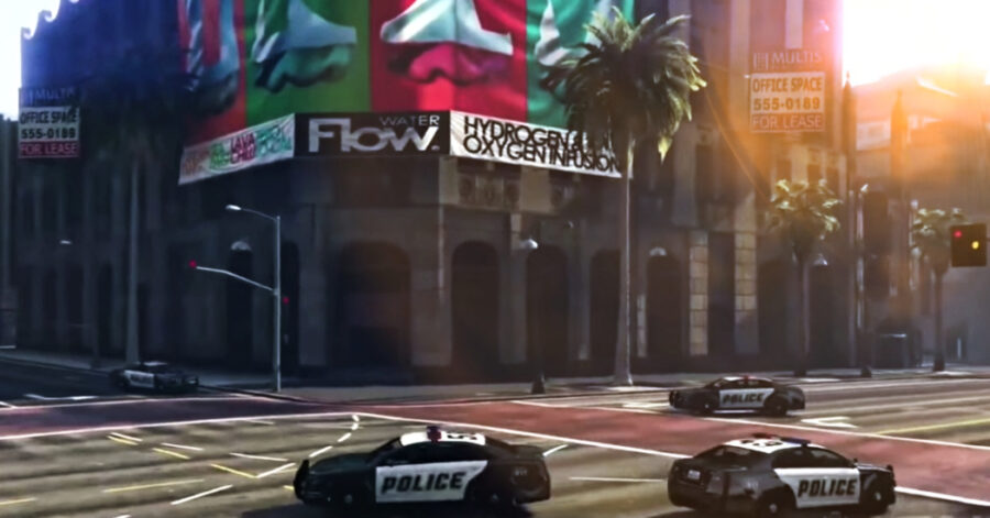 Screenshot of GTA 5 Online game play trailer