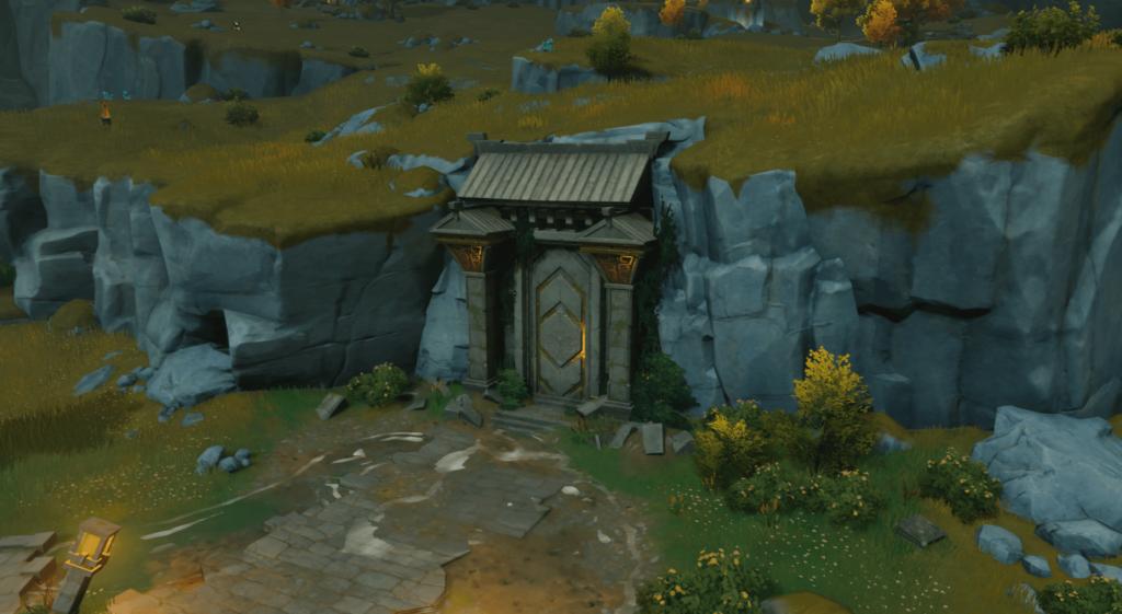 ruin doorway entry to pillars of peace quest