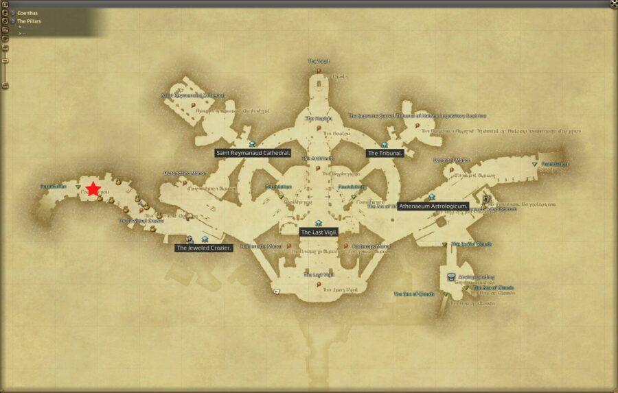 Hildibrand quest map Pillars