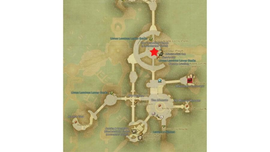 Limsa Drowning Wench Map