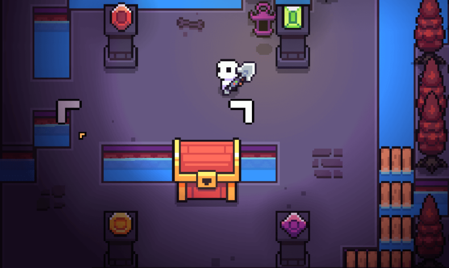 The solution to the colored pedestal puzzle in Forager.