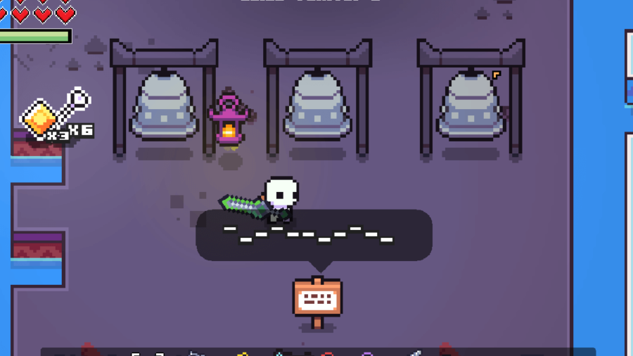 The Dark Bells Puzzle in Forager.