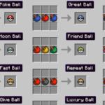 Several Poke Ball Recipes in Pixelmon