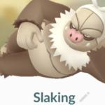 Slaking in Pokemon Go.