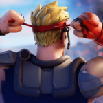 Fortnite Jonesy tightening his headband.