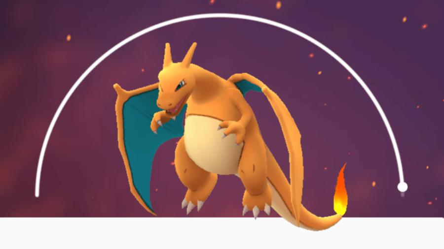 Charizard in Pokemon Go.