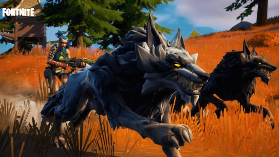 A wolf in a Fortnite Season 6 promo.