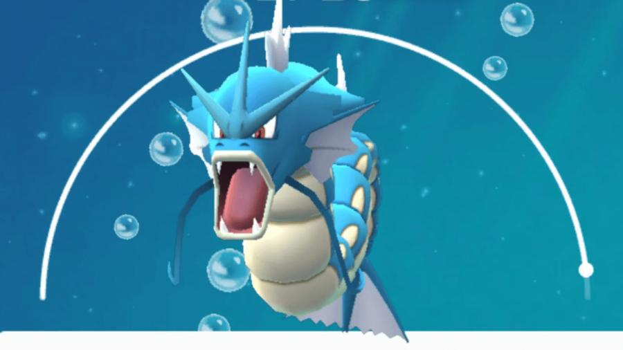 Gyarados in Pokemon Go.