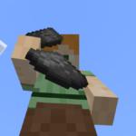 Alex in Minecraft dropping a Gunpowder.