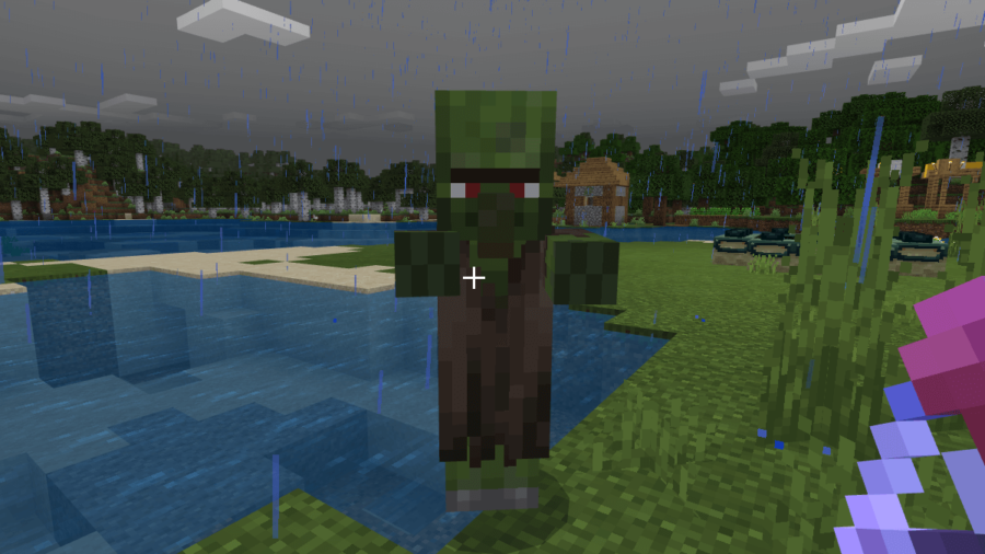 A Zombie Villager in Minecraft.
