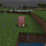 A Pig in Minecraft named Mr. Pigglesworth.