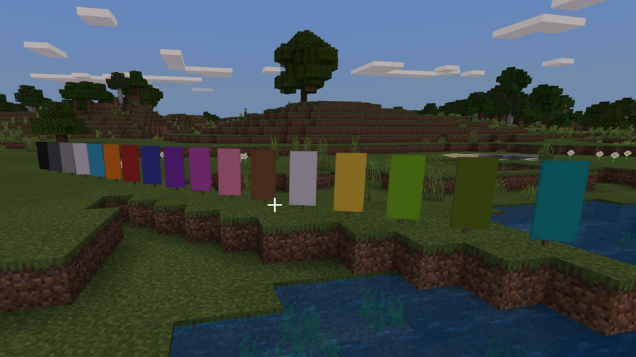 All Banner colors in Minecraft.