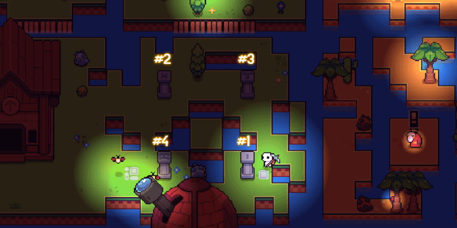 The Pillar Puzzle Solution in Forager.