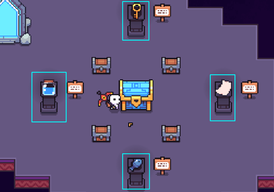 The solution for the Skull Galaxy Puzzle in Forager.