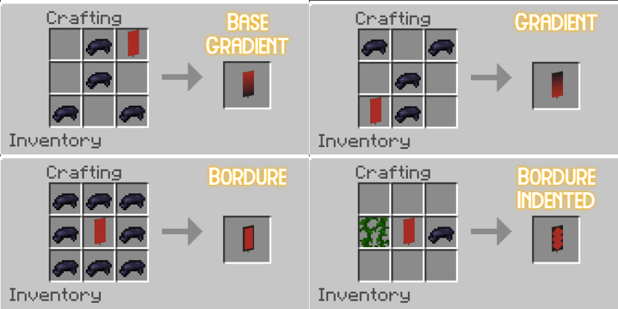 Border and Gradient Banner Recipes.