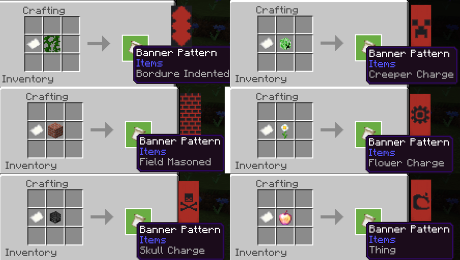 Banner Pattern recipes.