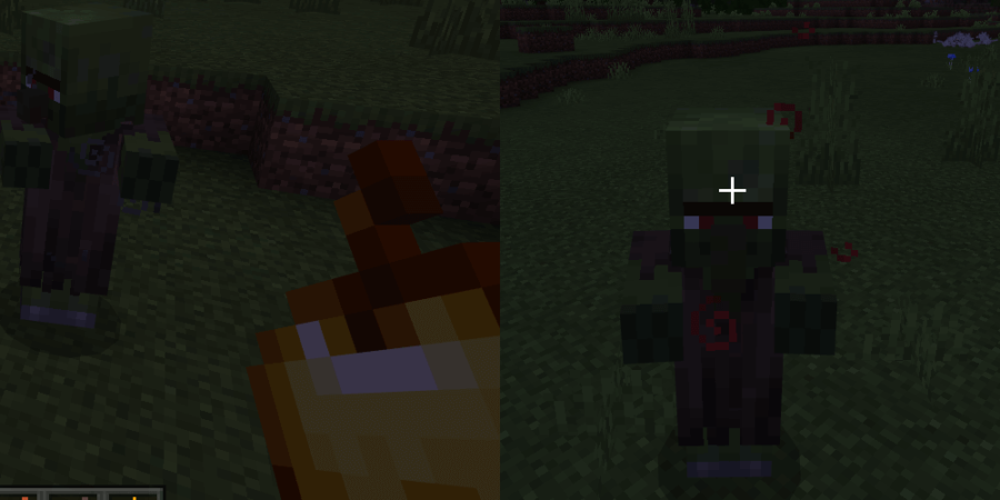 A Zombie Villager transforming.