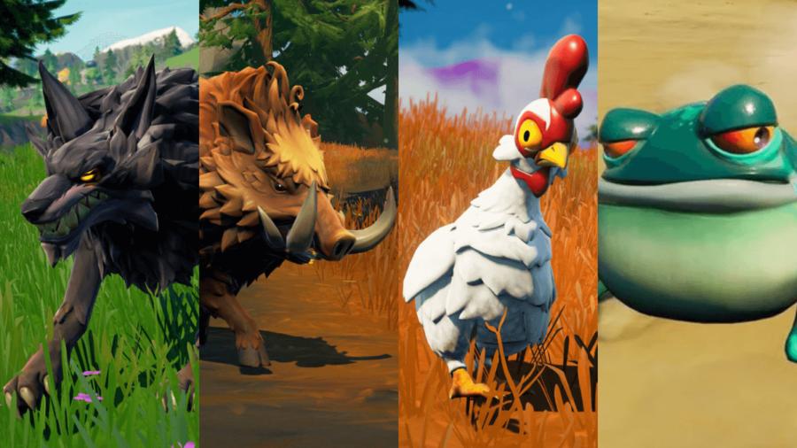 All Four Wildlife in Fortnite.