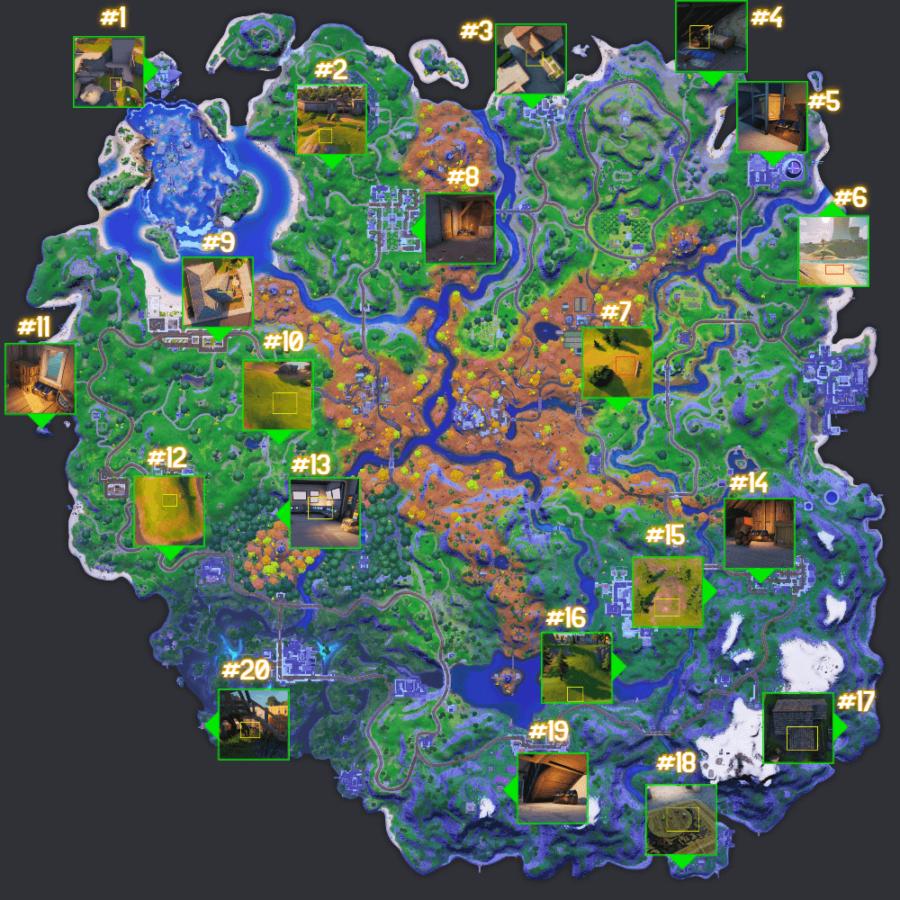 All bunker chest locations in Fortnite Seaso n6.