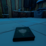 A closeup view of a cookbook in Fortnite.
