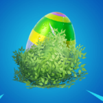 A Bouncy egg in a bush.