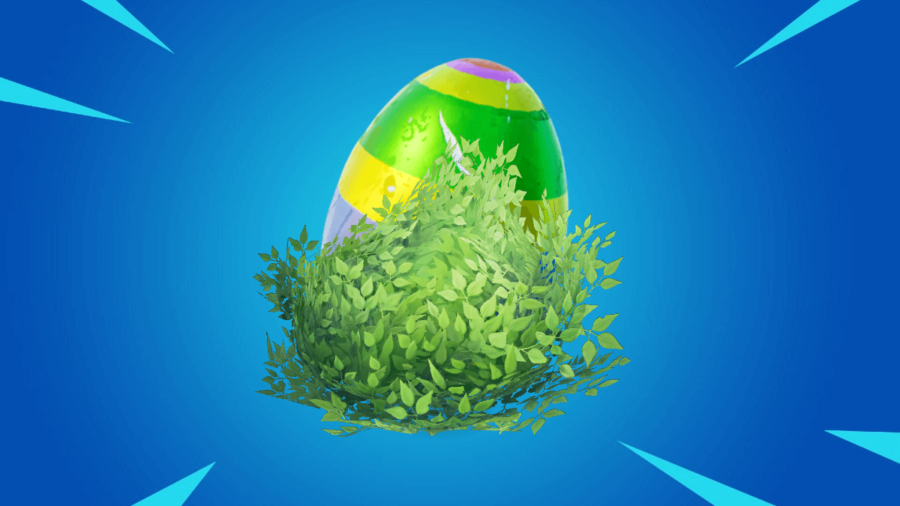 A Bouncy egg in a bush.