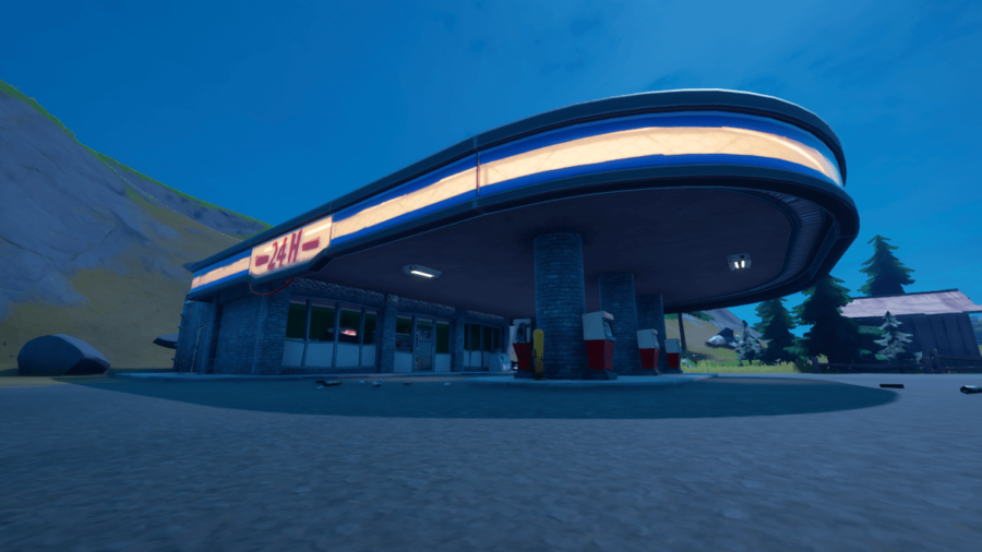 A Gas Station in Fortnite.