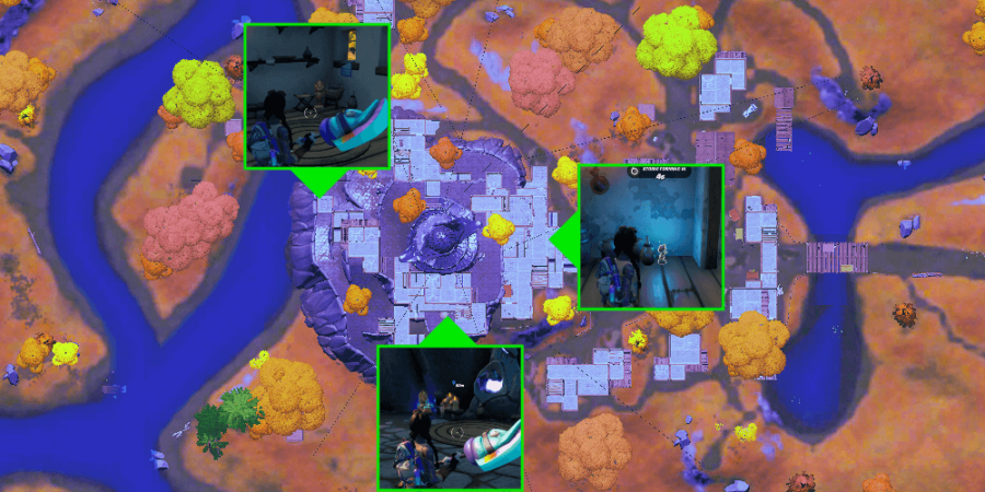 Golden Artifact locations at The Spire.