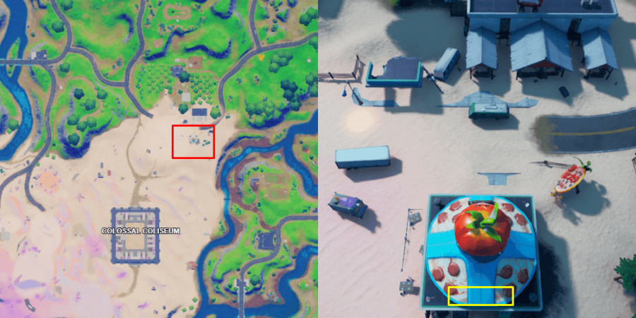 The Pizza Pit's kitchen in Fortnite.