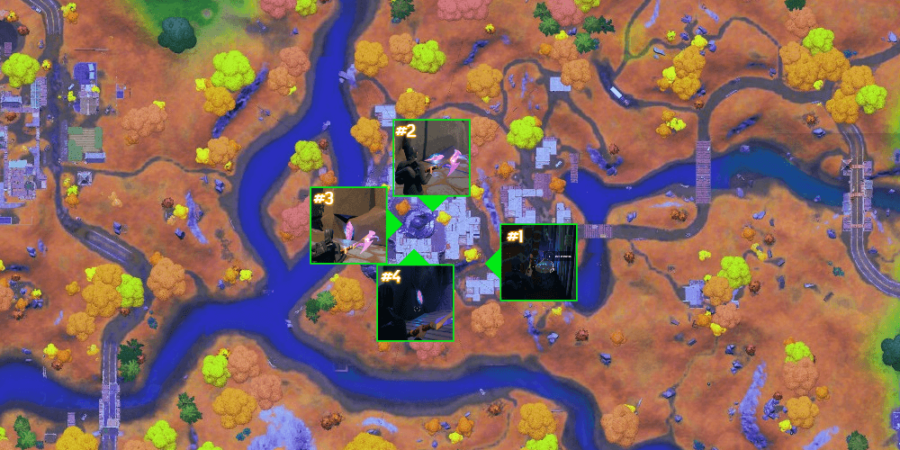 The crystal locations for Raz.