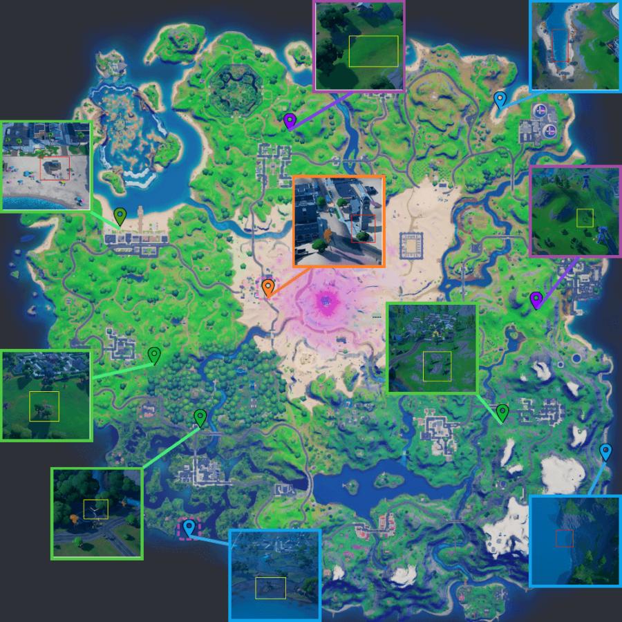 The Fortnite XP Coin locations for Chapter 2 Season 5 Week 14.