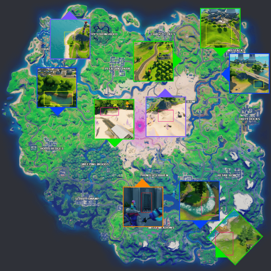 All Fortnite C2S5W15 Xp Coin Locations.