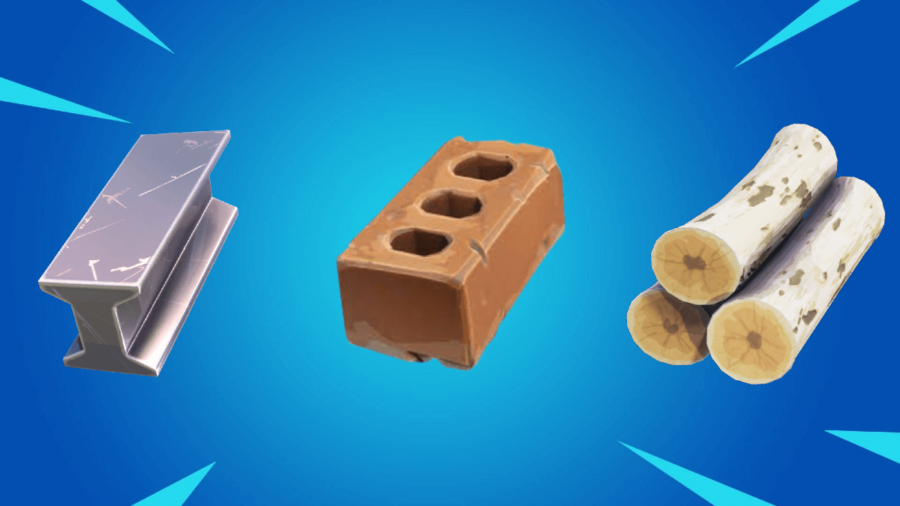 All resources on a Fortnite item background.