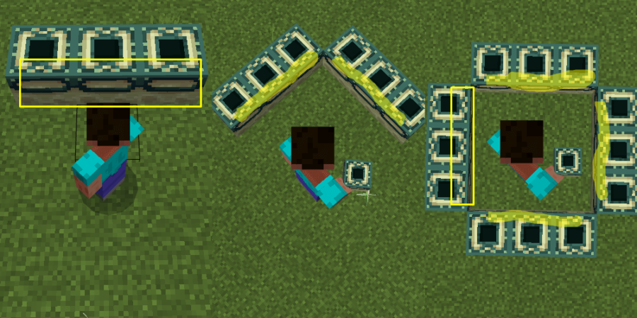 The process of building an End Portal.