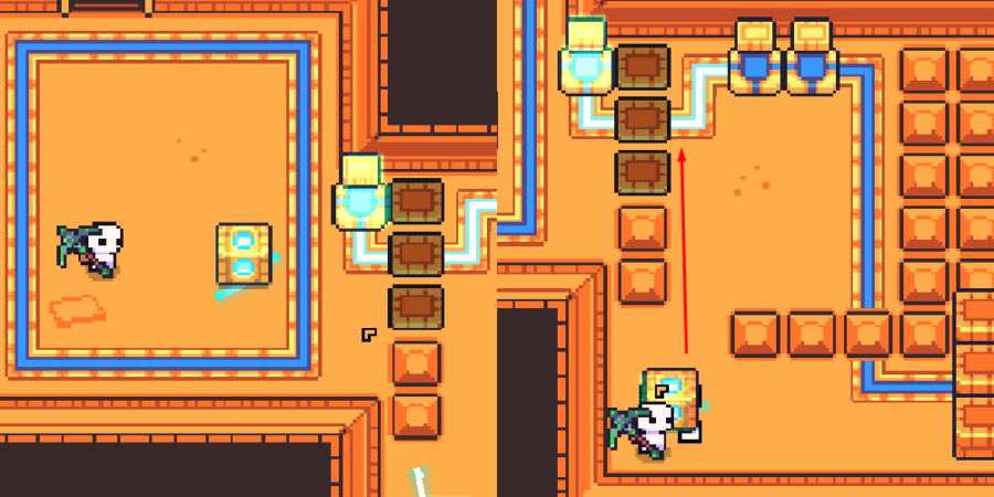 The third steps to solving the Ancient Tomb.