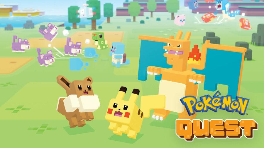 Pokemon Quest Title Screen.