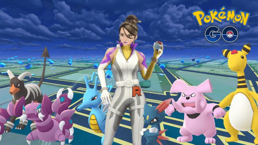 Sierra and her Pokemon in Pokemon Go