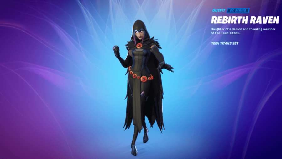 A Featured Raven Outfit in Fortnite.