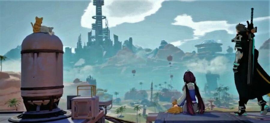 Screenshot of Tower of Fantasy game play trailer