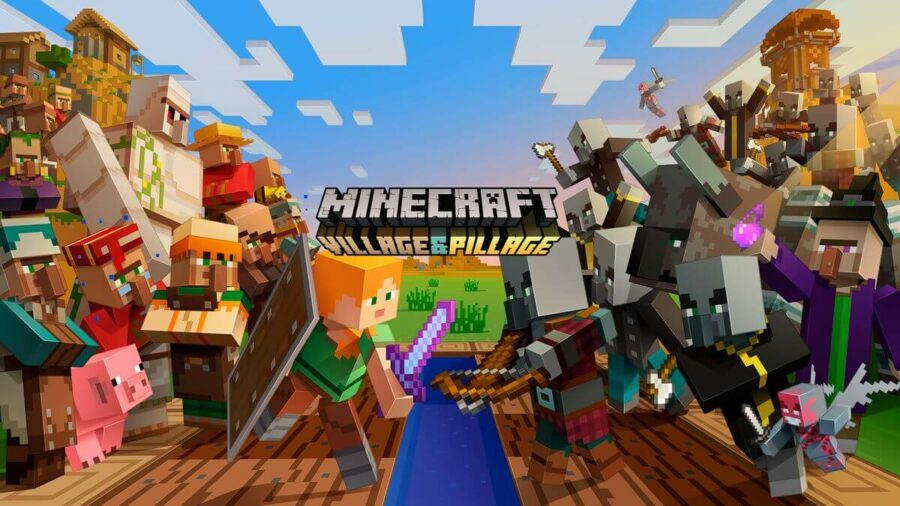 The Minecraft Village and Pillage update promo.