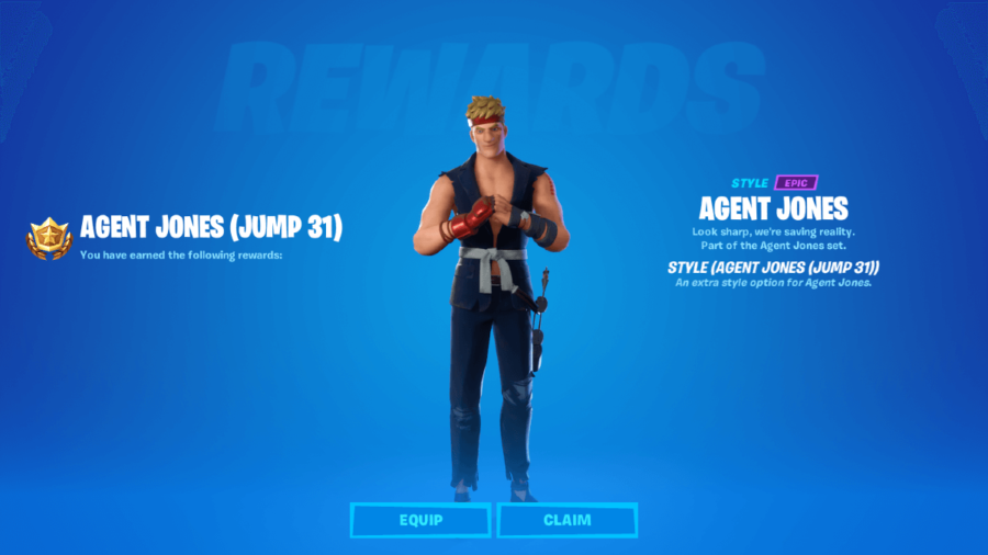 Agent Jones Jump 31 Reward.