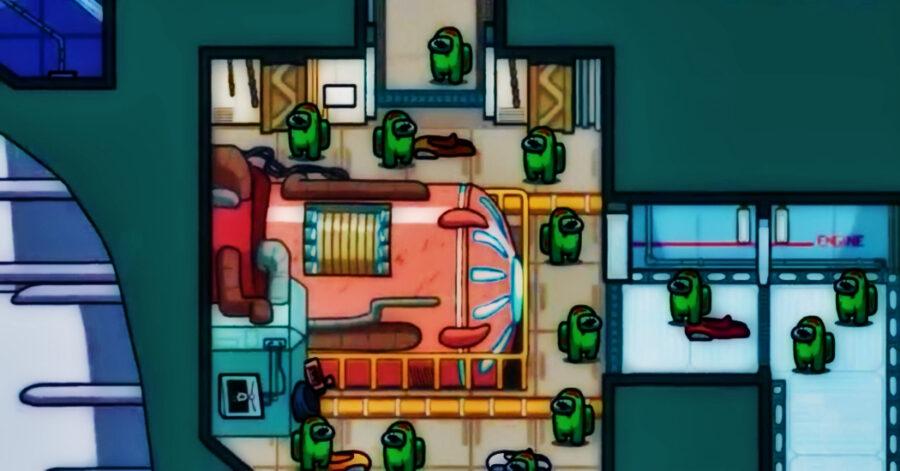 Screenshot of Among Us gameplay trailer