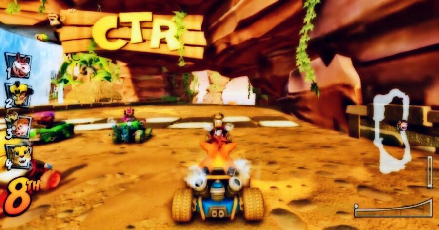 Screenshot of Crash Team Racing gameplay