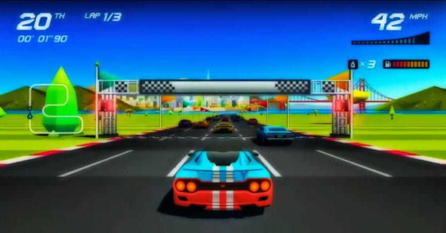 Screenshot of Horizon Chase Turbo gameplay