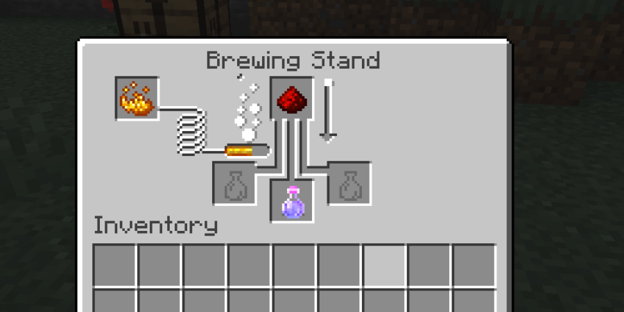 Brewing with Redstone in Minecraft.