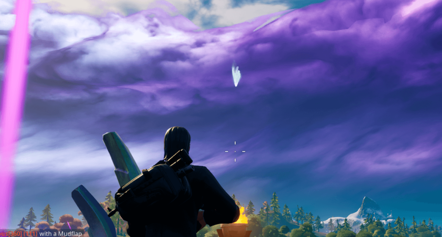 The anomaly above the spire in Weeping Woods.