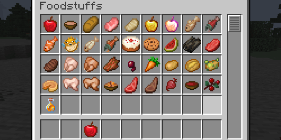 All food in Minecraft.