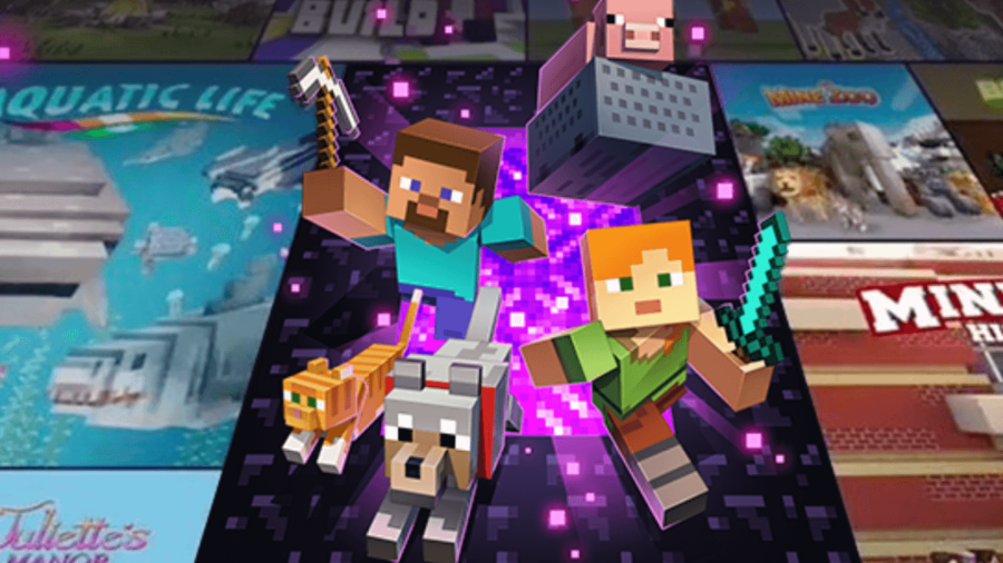 Promo for Minecraft Realms.