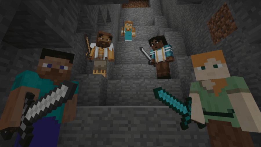 Several Minecraft Players.