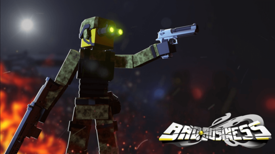 The title image for Roblox Bad Business.